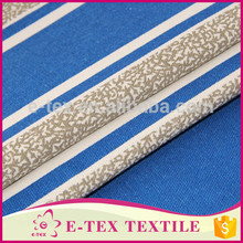 The latest white and blue poly cotton printing patterned canvas fabric