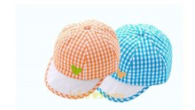 Baby boy girls' hats for small dogs checked baseball hat cap Guangzhou Factory