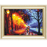 The Best Pictures DIY Digital Oil Painting Paint By Number Christmas Birthday Unique Gift 40x50cm Couple Walk In Rain