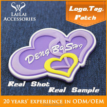 Latest hot sales spider pattern 3d embossed logo with rubber for garment & bag