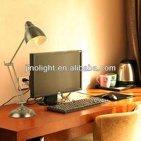 Modern led stain nickel office desk lamp design for hotel bedside