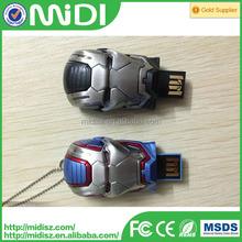 Hot sale promotional,custom usb flash drive ,printing logo service Iron man design 128GB