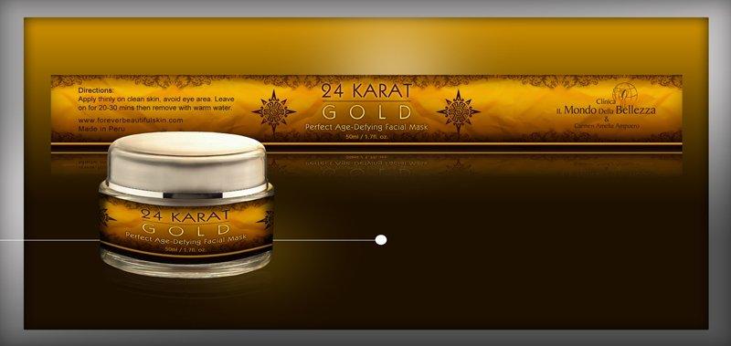 24 quilates de oro o crema ( para la cara y el cuerpo )