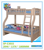 Twin over full bunk bed for kids bedroom furniture sets