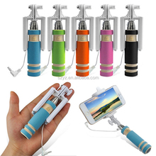 HOT 2015 fashionable selfie stick with bluetooth shutter button remote,monopod selfie stick for ipod touch 5