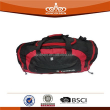 2015 durable red black plain travel luggage bag
