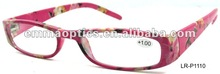 Fantastic Floral Pattern Reading Glasses With Hot Paper Transfer Design