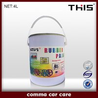 Synthetic clear liquid silicone rubber coating spray for car