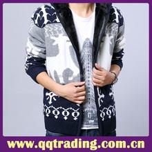 Cashmere polyester knitting machine cardigan christmas cap men sweater