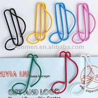 P084 office & school supplies cute Musical Note shaped paper clip