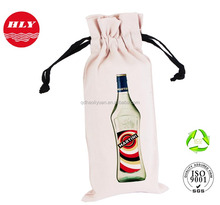 Custom all kinds of Good Quality 10 OZ Cotton Canvas Bottle Bag
