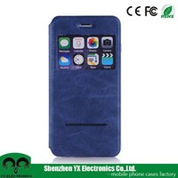 Auto sleep wake pu leather mobile flip phone covers