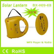 1W portable led solar camping lantern with radio