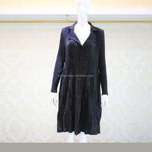 Ladies fancy pleats coat bow back coat