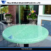 Artificial stone modern style round composite coffee table tops