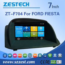 Wholesale car fm radios audio multimidea car central armrest dvd player for car For FORD FIESTA support Phone 3G DVR SWC BT