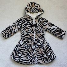 animal print knit faux fur hoodie/fake fur hoodies