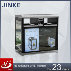 Wholesale Outdoor Furniture Advertising Poster Display Garbage Recycle Bin With Solar Powered