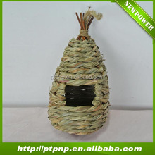 Hanging natural handmade eco-friendly grass wild bird nest