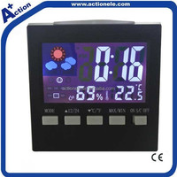 cheap color display weather station clock