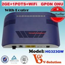 2GE fast ethernet WIFI GPON ONT optical line terminal equipment