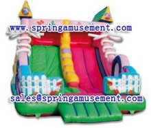 pastoral style big inflatable water slide for sale, inflatable slide with dual lanes sp-sl050