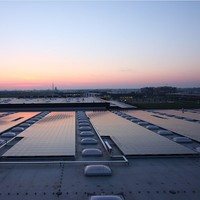 Hanergy 70kw flat roof solar power system model most efficiency solar panel