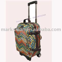 fashion luggage trolley carry on bag travel trolley bag