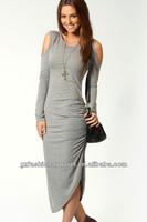 ladies modern dress cotton design one piece dress stylish