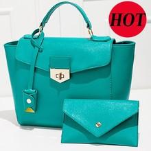 Trading wholesale lady woman Purses and handbags 2pcs together Cheap Fashion handbag Purse in stock