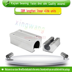 4pcs SBR40LUU aluminum block 40 mm Linear motion ball bearing slide block match use SBR40 40mm linear guide rail XYZ Table CNC