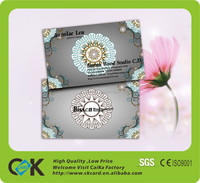 Custom CMYK printing credit card size business visiting card with cheap price