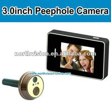 3.0 inch touch screen digital peephole viewer with photo shooting/video recording, Night vision LED
