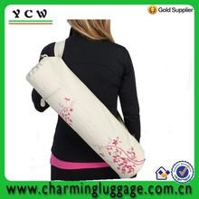 NEW Natural College With Adjustable Shoulder Strap100% Cotton Yoga Mat Bag