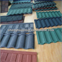 Building Materials Colorful Stone Coated Metal Roof Tiles YIWU Manufactory