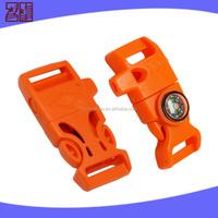 Latest desgin survival flint fire starter buckle,wholesale side release buckle,plastic insert buckle