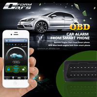 New Smart Phone Car Alarm With Can Bus OBD Engine Lock for Mobile Phone Hot 2015