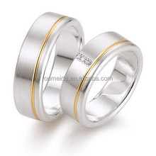 Titanium Ring Men Women Wedding Stainless Steel Engagement Jewelry Ring