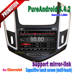 8 inch wifi 3G steering wheel control Capacitive screen radio/dvd bluetooth mirror-link hotspot cruze 2014 Android 4.4.2 dvd car