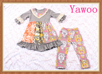 2015 fall season indian baby clothes orange baby clothing wholesale cute princess clothing manufacturers turkey lace ruffle sets