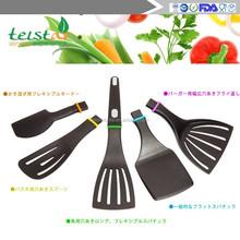 Quirky 'Click n Cook' Spatula Set & Storage Block Detachable Heads BBQ Utensil