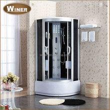 Indoor freestanding tempered glass door whirlpool steam massage shower room