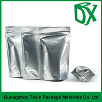 food industrial use custom aluminum foil packaging bags with zip lock and tear notch
