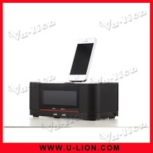 NFC Dock Station Bluetooth Speaker with FM radio alarm clock Mini speaker for iPhone,iPad,iPod, Android
