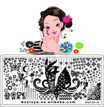 Dream Girl New nail art DIY Design / Nail Art Stamping Image Plates 6*12cm