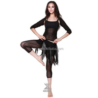 QC2009-1 Black Mesh Cheap Belly Dancing Costumes uk