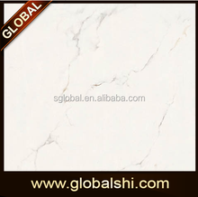 Glazed Polished Calacatta marble porcelain tile white and grey veins for wall and floor tile