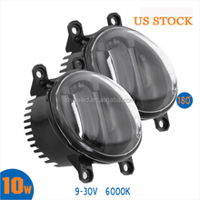 DC9-30V LED Fog Light with Daytime Running Light White 10W LED Car Fog Light for Alphard