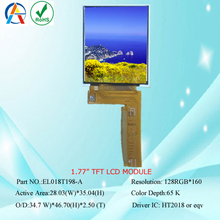 1.77 Inch TFT With Spi Interface LCD Display Module 128x160 Resolution