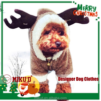 T.O.P Quality Christmas Reindeer cosplay costume, dog winter coat, dog pet clothes for Christmas